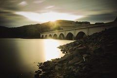 Ladybowerbrug bij zonsondergang Stock Afbeeldingen