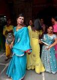 Ladyboy i Indien Arkivbilder