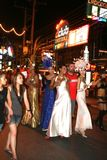The ladyboys in phuket town ,thailand Stock Photos