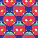 ladybug πρότυπο άνευ ραφής Στοκ Φωτογραφία