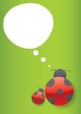 ladybug думает иллюстрация штока