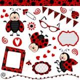 ladybug коллажа цифровой Стоковое Изображение RF
