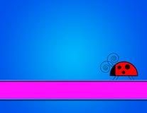 ladybug предпосылки Стоковые Изображения