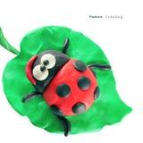Ladybug шаржа пластилина Стоковые Изображения RF