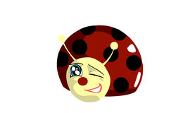 isolated happy Ladybug cartoon  Stock Photo