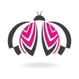 Ladybug. The illustration shows a ladybug with open wings stock illustration