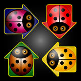 LadyBug Arrow Buttons Stock Photo