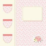 Ladybug baby shower Royalty Free Stock Image