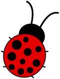 A ladybug back view Royalty Free Stock Photos