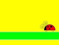 Ladybug Background. Yellow background with ladybug and banner stock illustration