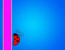 Ladybug Background. Blue gradient background with ladybug and banner vector illustration