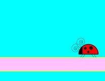 Ladybug Background. Blue background with ladybug and banner royalty free illustration