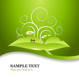 Green Ladybug background design Royalty Free Stock Photos