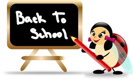 Ladybug with board and text Back To School Stock Photography