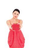 Ladybug and boxed present Stock Photography