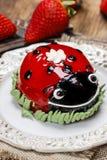 Ladybug cake Stock Image