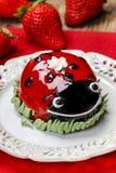 Ladybug cake Royalty Free Stock Images