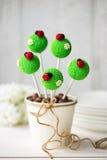 Ladybug cake pops Royalty Free Stock Image