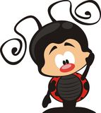Ladybug cartoon stock illustration