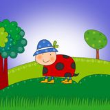 Ladybug. Cartoon character. Royalty Free Stock Images