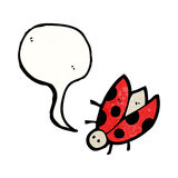 ladybug cartoon character Royalty Free Stock Photography