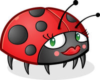 Ladybug Cartoon Character wearing Makeup Royalty Free Stock Photos