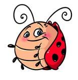 Ladybug cartoon illustration Royalty Free Stock Photos