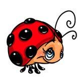 Ladybug cartoon illustration Royalty Free Stock Image