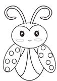 Ladybug coloring page. Useful as coloring book for kids Royalty Free Stock Images