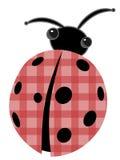 Ladybug com desenhos animados vermelhos do vetor do escudo dos retalhos Fotografia de Stock Royalty Free