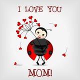Ladybug com flor Foto de Stock Royalty Free