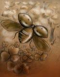 Ladybug di volo Fotografia Stock