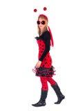 Ladybug dress royalty free stock images