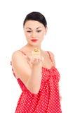 Ladybug e presente inscatolato Fotografia Stock Libera da Diritti