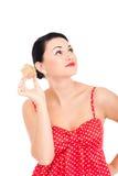 Ladybug e presente inscatolato Immagini Stock Libere da Diritti