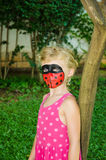 Ladybug face painting Royalty Free Stock Images