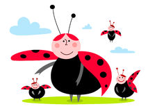 Ladybug family Royalty Free Stock Photography