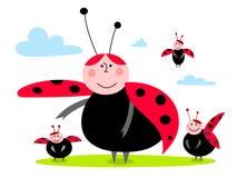 Ladybug family Royalty Free Stock Photography