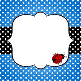 Ladybug Fathers Day Card. Fathers Day card with blue polka dots and a ladybug stock illustration