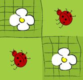 Ladybug and flower Stock Photo