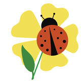 Ladybug garden Stock Photo
