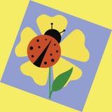 Ladybug garden vector illustration