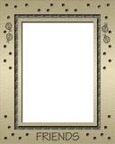 Ladybug Gold Frame Stock Image