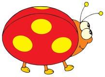 Ladybug (grampo-arte do vetor) ilustração stock