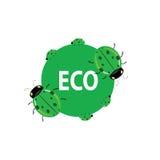 Ladybug green art eco vector Royalty Free Stock Photos