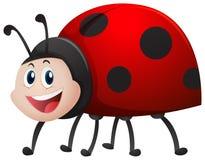 Ladybug with happy face. Illustration stock illustration