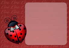 Ladybug with heart Stock Photo