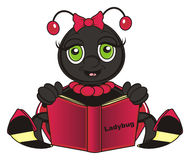 Ladybug hold a book Royalty Free Stock Images