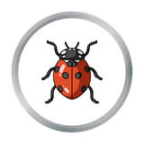 Ladybug icon in cartoon style isolated on white background. Insects symbol stock vector illustration. Royalty Free Stock Photography