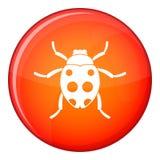 Ladybug icon, flat style Stock Images